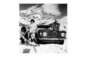 Bilde av Alfa Romeo Vinter - Glass Bilde (120x120)