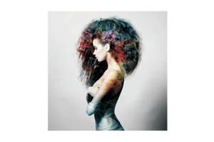 Bilde av Kvinne med Farger - Glass Bilde (120x120)