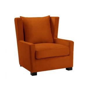 Bilde av Kingston Halvrund Lenestol - Velour Orange