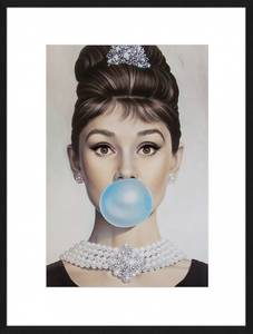 Bilde av Audrey Hepburn with Bubblegum (60x80)