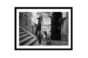 Bilde av Kvinne og Hund No. 2 - Ramme m/glass (120x80)