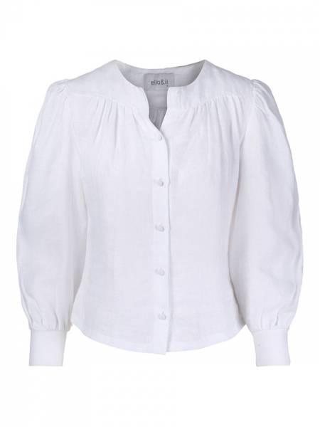 Bilde av Ella and il Ane Linen Shirt White