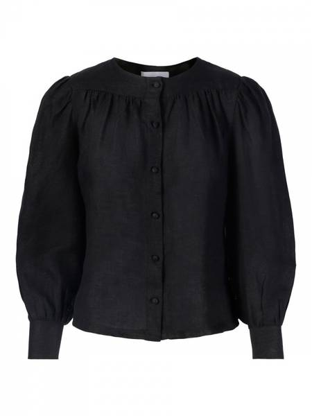 Bilde av Ella and il Ane Linen Shirt Black