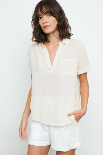 Bilde av Rails Savannah Shirt White Sand