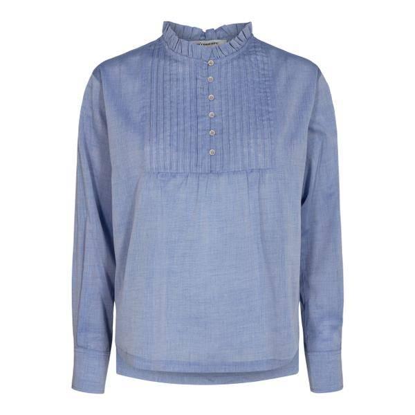 Bilde av Co'couture Sissa Pintuck Shirt Sky Blue