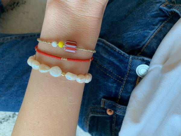 Bilde av Petit Perles Bracelet Core Anais Rød Heishi