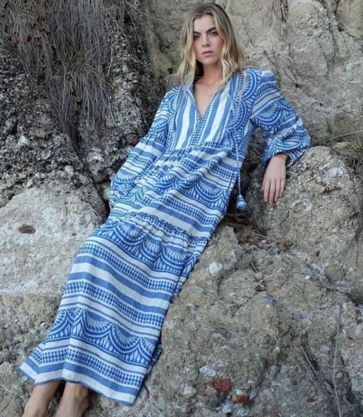 Bilde av Pearl and Caviar Zakar Maxi Dress Cobalt Blue