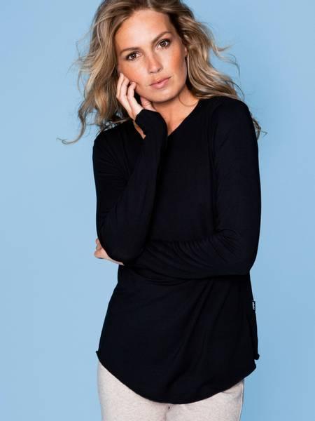 Bilde av Ella and il Celine Modal Long Sleeve Black