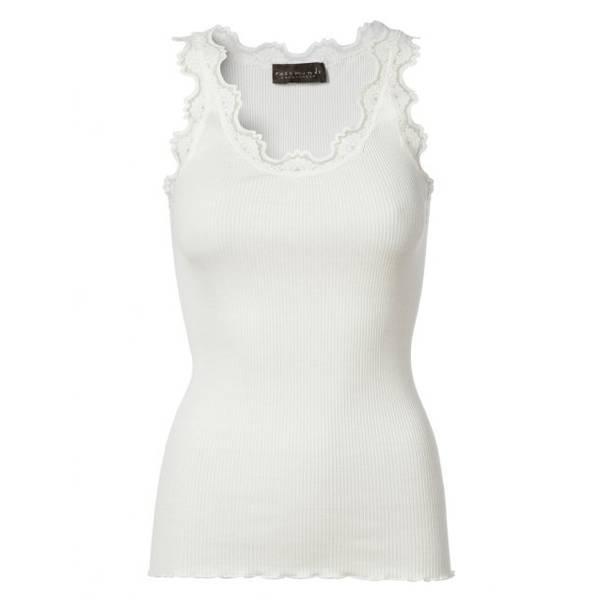 Bilde av Rosemunde Silketop Vintage Lace New White
