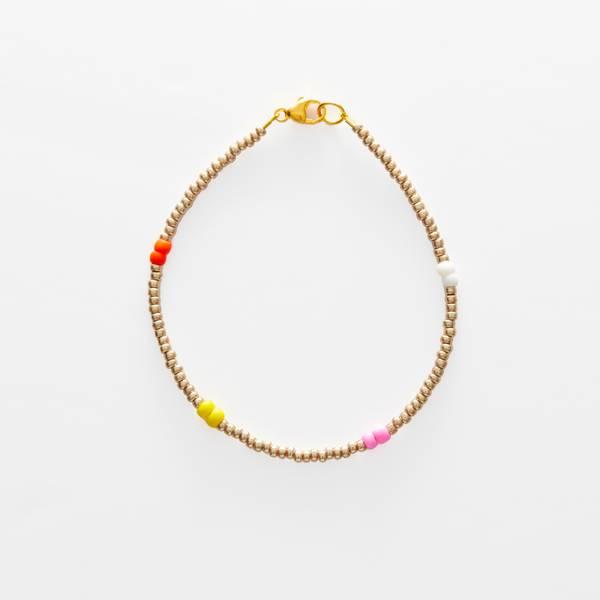 Bilde av Petit Perles Bracelet Basic Bille Gull/Multi