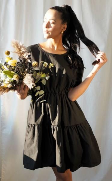 Bilde av Nectar Mia Poplin Dress Black