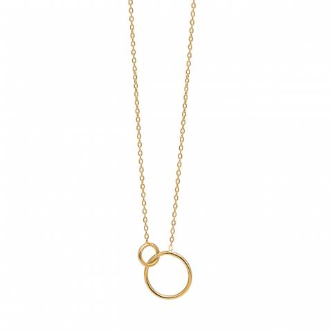 Bilde av Enamel Copenhagen Necklace Double Circle Gold