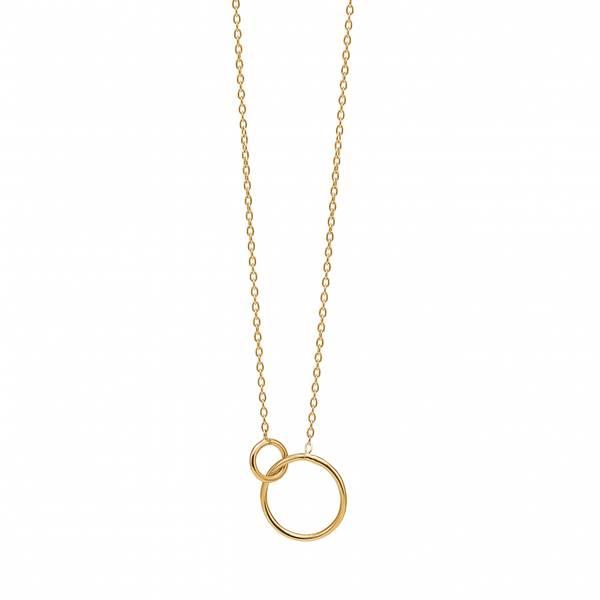 Bilde av Enamel Copenhagen Necklace Double Circle Gold