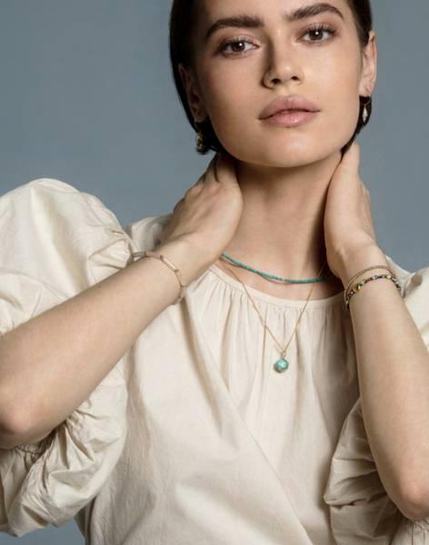 Bilde av Petit Perles Necklace Camille Turkis Heishi