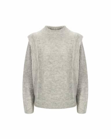 Bilde av IBEN Tuck Sweater Flint Grey