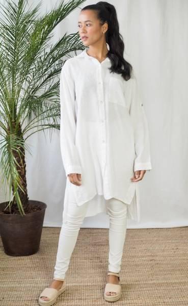 Bilde av Nectar Lilly Linen Shirt White