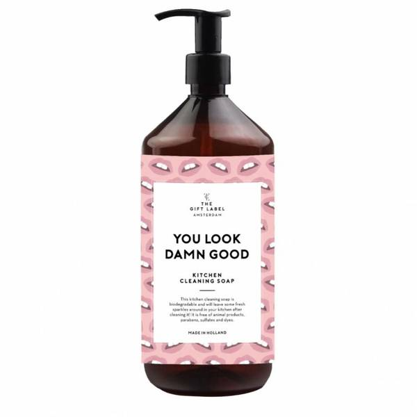 Bilde av The GiftLabel Kitchen Cleaning Soap You Look Damn