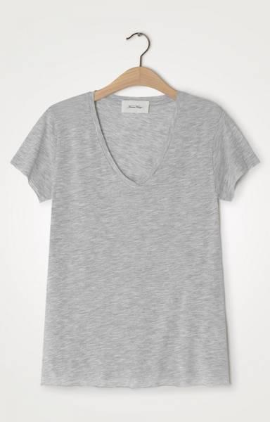 Bilde av American Vintage Jacksonville T-Shirt V Grey