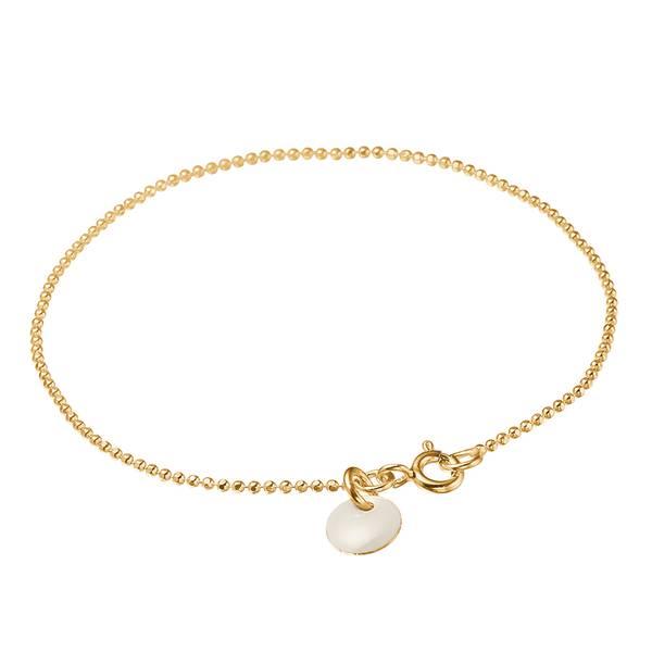 Bilde av Enamel Bracelet Ball Chain Gold