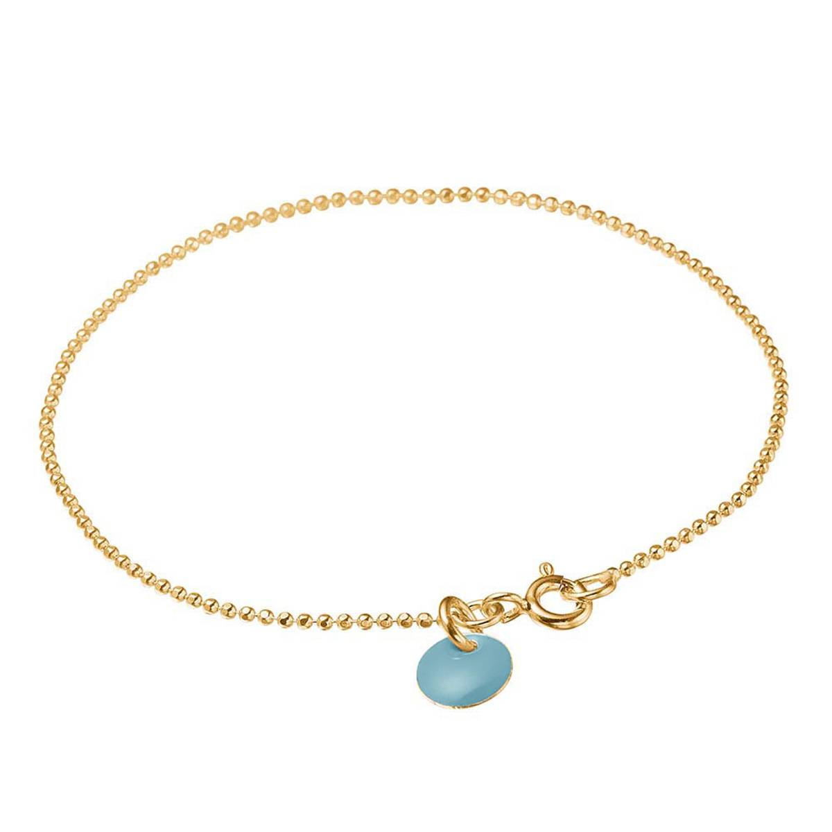 Enamel Bracelet Ball Chain Gold