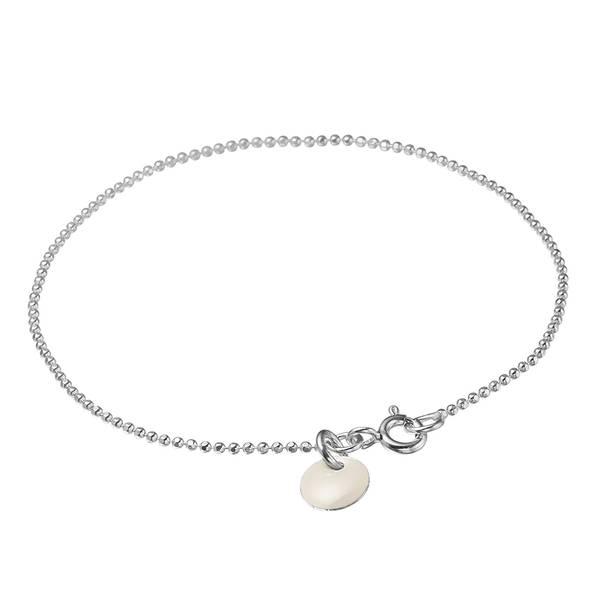 Bilde av Enamel Bracelet Ball Chain Silver