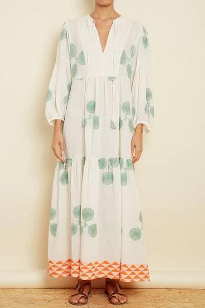 Bilde av Pearl and Caviar Zakar Maxi Dress Green/Apricot