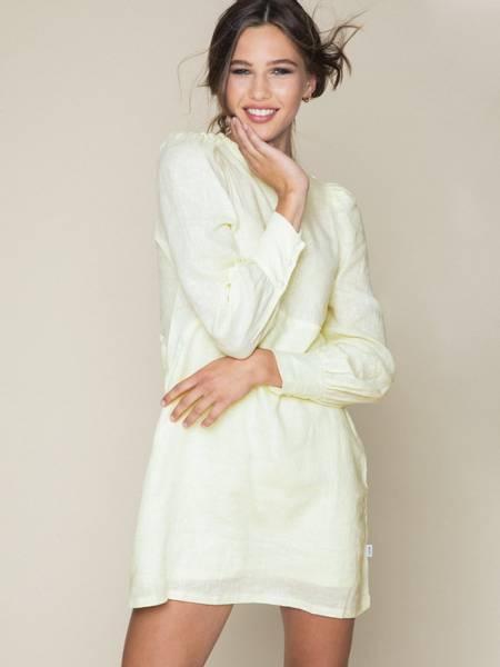 Bilde av Ella and il Leonora Linen Dress Yellow