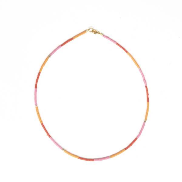 Bilde av Petit Perles Necklace Core Anais Rød Rosa Heishi