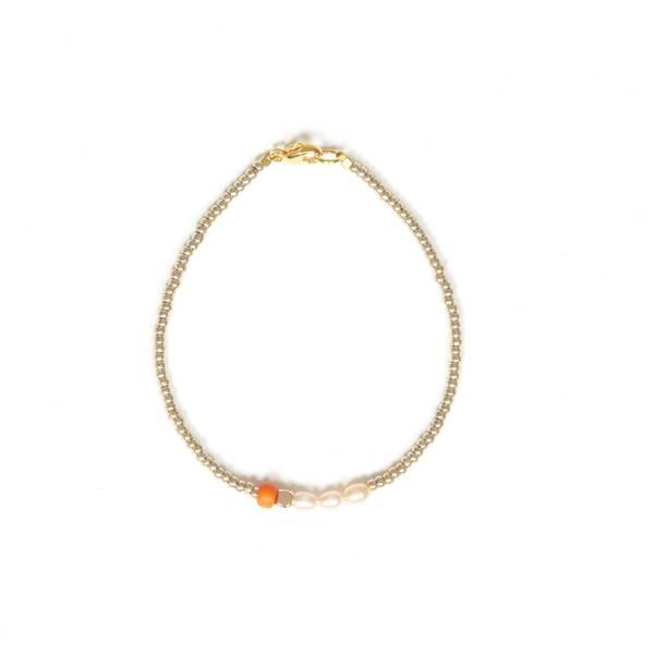 Bilde av Petit Perles Bracelet Core Chloe Ferskvann Orange