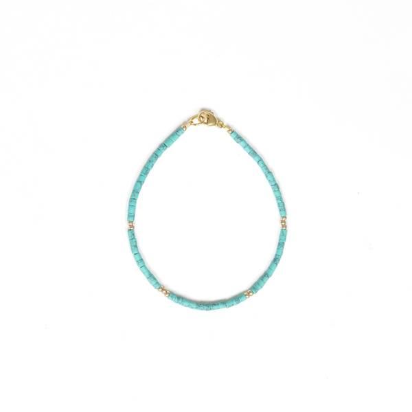 Bilde av Petit Perles Bracelet Core Camille Turkis Heishi
