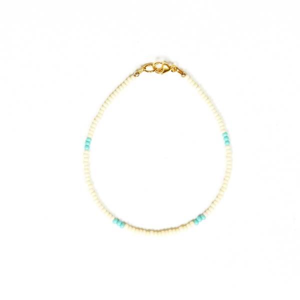 Bilde av Petit Perles Bracelet Basic Joy Hvit Turkis