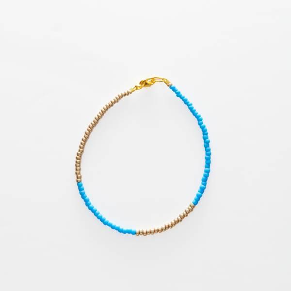 Bilde av Petit Perles Bracelet Basic Elle Gull/Blå