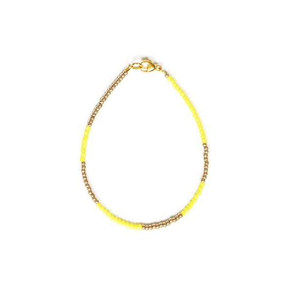 Bilde av Petit Perles Bracelet Basic Bella Gull Gul