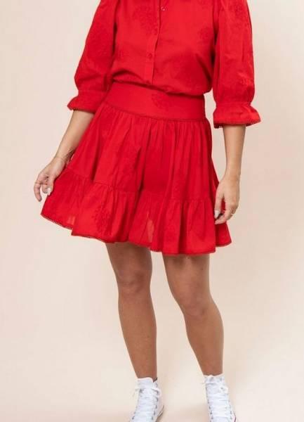 Bilde av MissMaya Darcy Skirt True Red