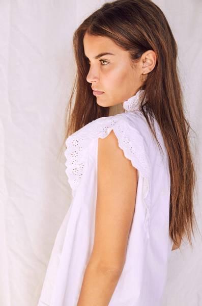 Bilde av Co'couture Prima Pintuck Top White