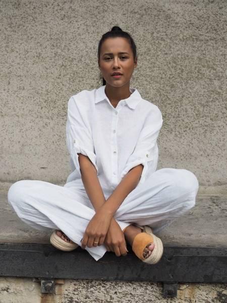 Bilde av Nectar Julie Linen Shirt White
