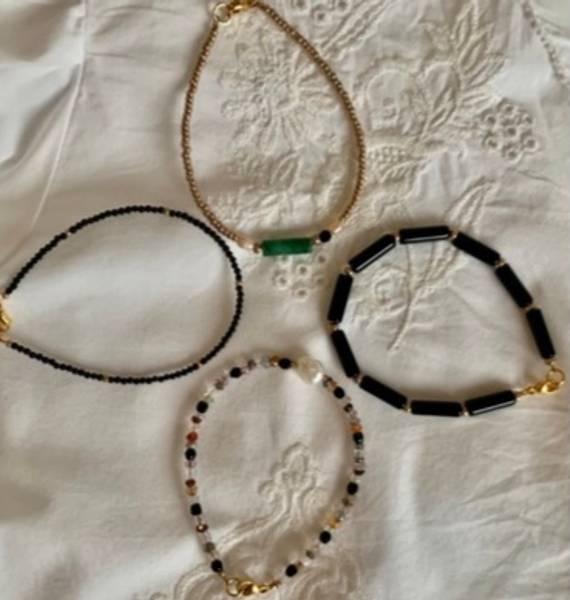 Bilde av Petit Perles Bracelet Gem Jul Svart Rør