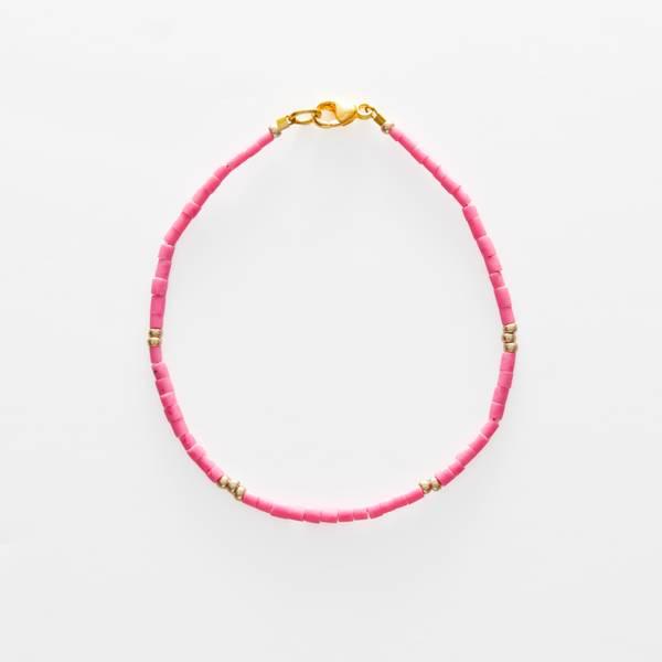 Bilde av Petit Perles Bracelet Core Lily Rosa Heishi