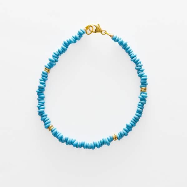 Bilde av Petit Perles Bracelet Core Lou Turkis Java Heishi