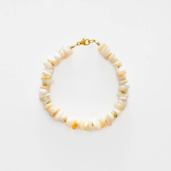 Bilde av Petit Perles Bracelet Vintage Beau White Sea