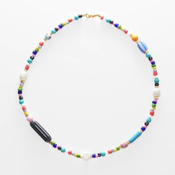 Bilde av Petit Perles Necklace Poppy Multi