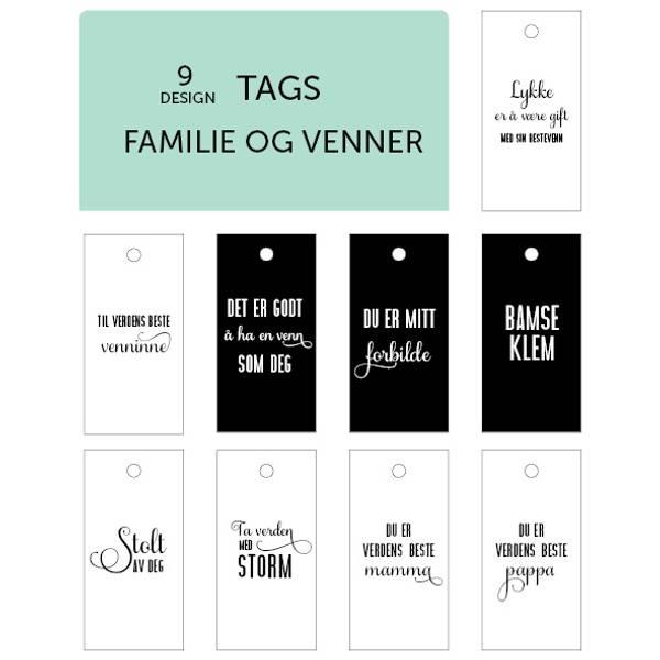 Bilde av 9 design - Familie og venner