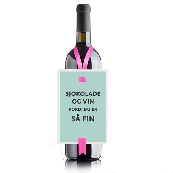 Bilde av Sjokolade og vin - Vinkort
