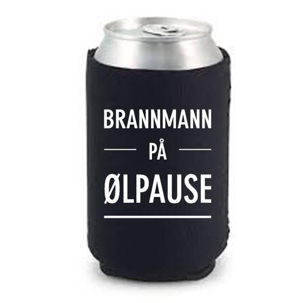 Bilde av Brannmann på ølpause