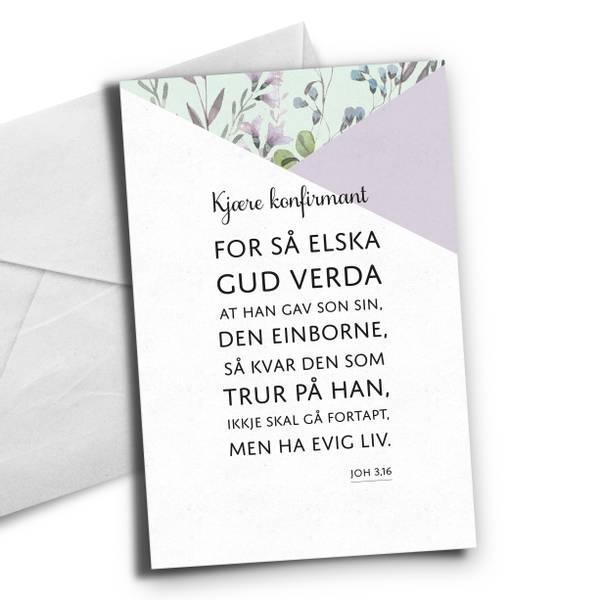Bilde av Nynorsk-Bibelvers fra Joh