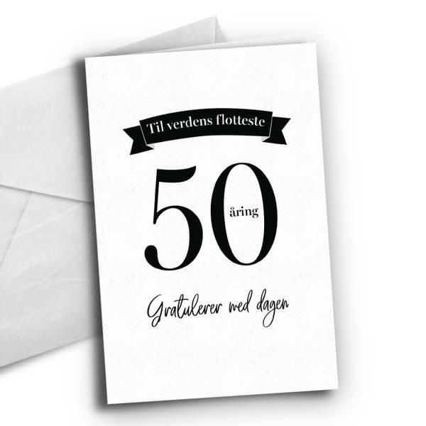 Bilde av 50 åring - Bursdagskort