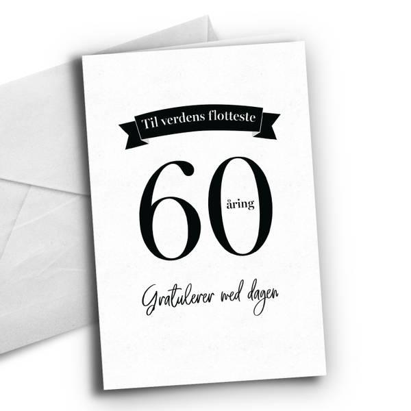 Bilde av 60 åring - Bursdagskort
