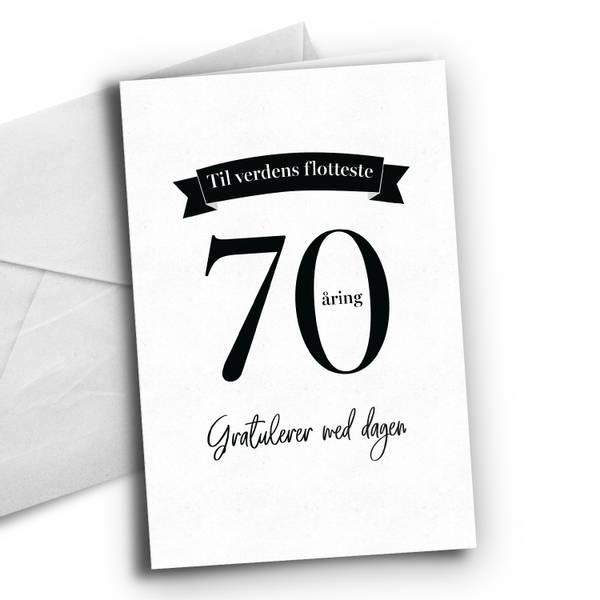 Bilde av 70 åring - Bursdagskort