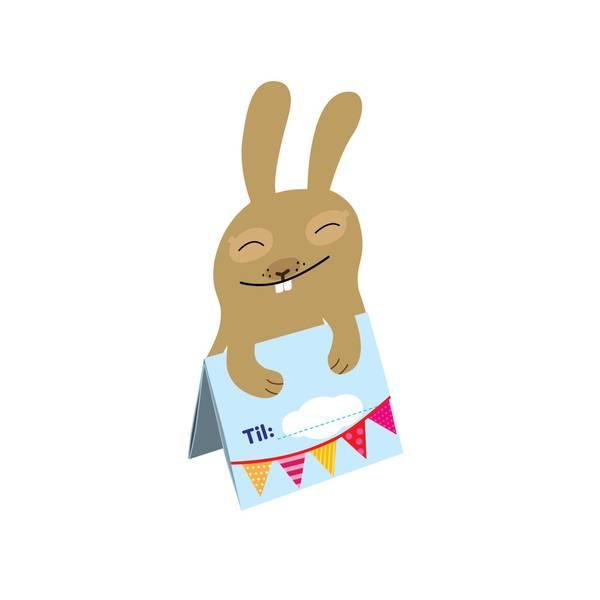 Bilde av 6pk Bursdagsinvitasjon kanin