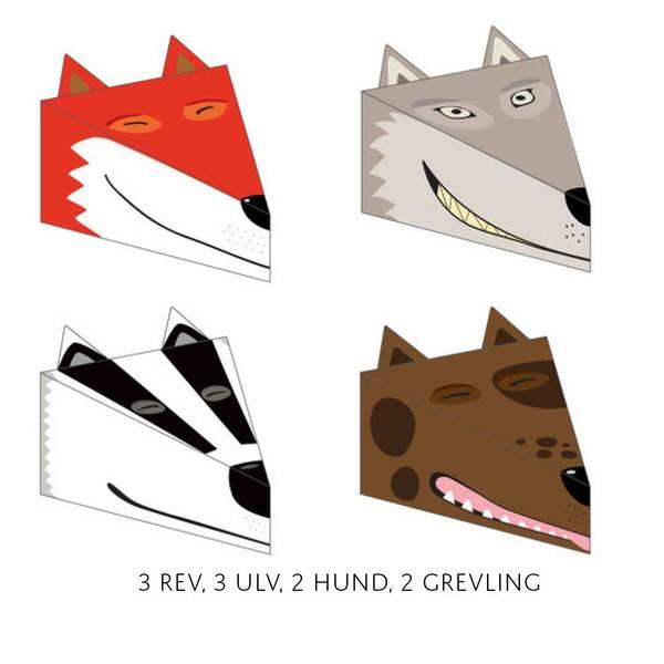 Bilde av 10pk med rev, ulv, hund, rev